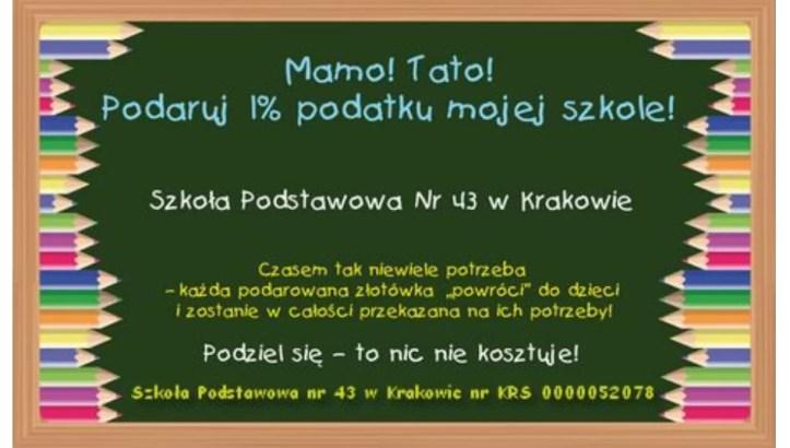 1 % podatku dla SP nr 43