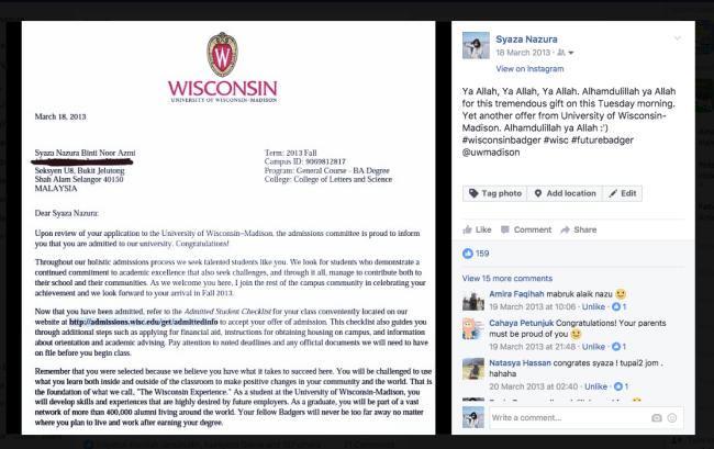 University of Wisconsin-Madison, Acceptance Freshman Admissions
