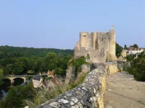 Castle ruins at Angles-sur-L'Anglin