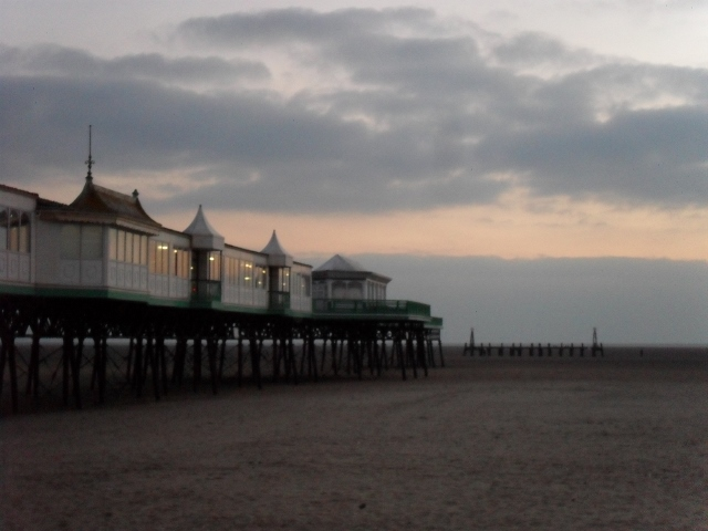 A very cold day at St Annes on Sea, UK.