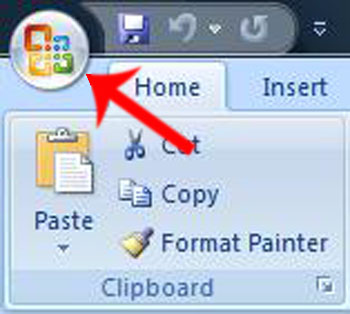 Office Button in Office 2007