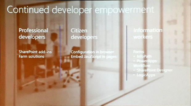 Continued developer empowerment