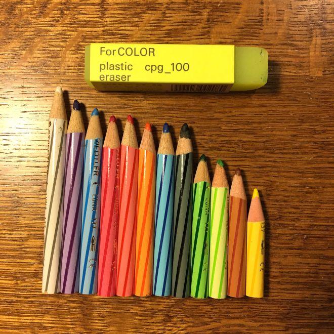 水彩色鉛筆の減り具合