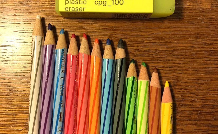 色鉛筆の減り具合がいとおしい #水彩色鉛筆