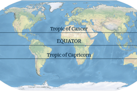 Map tropic cancer tropic of cancer tropic of capricorn gumiabroncs Images
