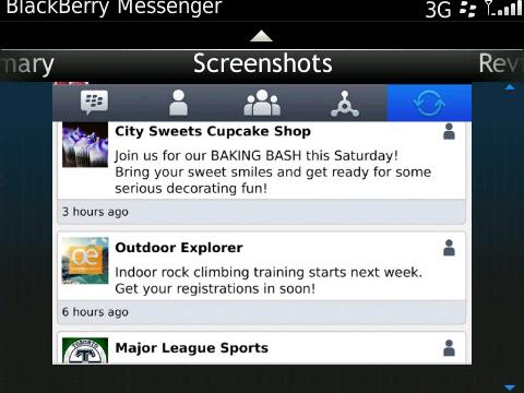 Blackberry messenger display picture not updating