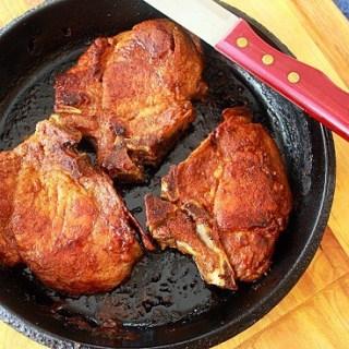 Skillet Roasted Pork Chops