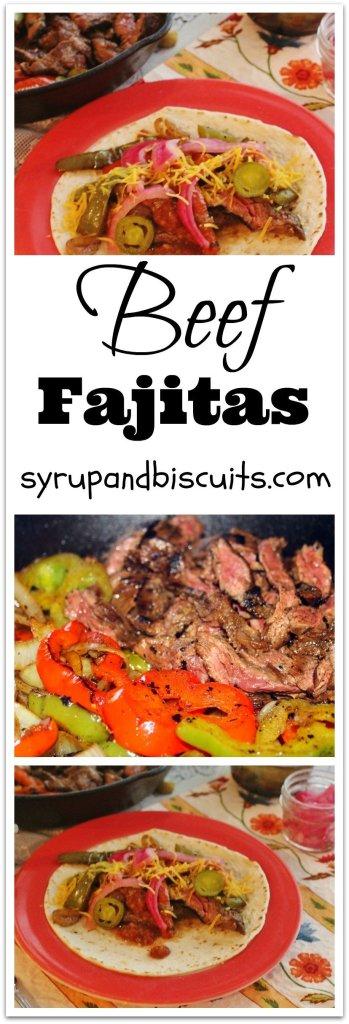how to make beef fajitas