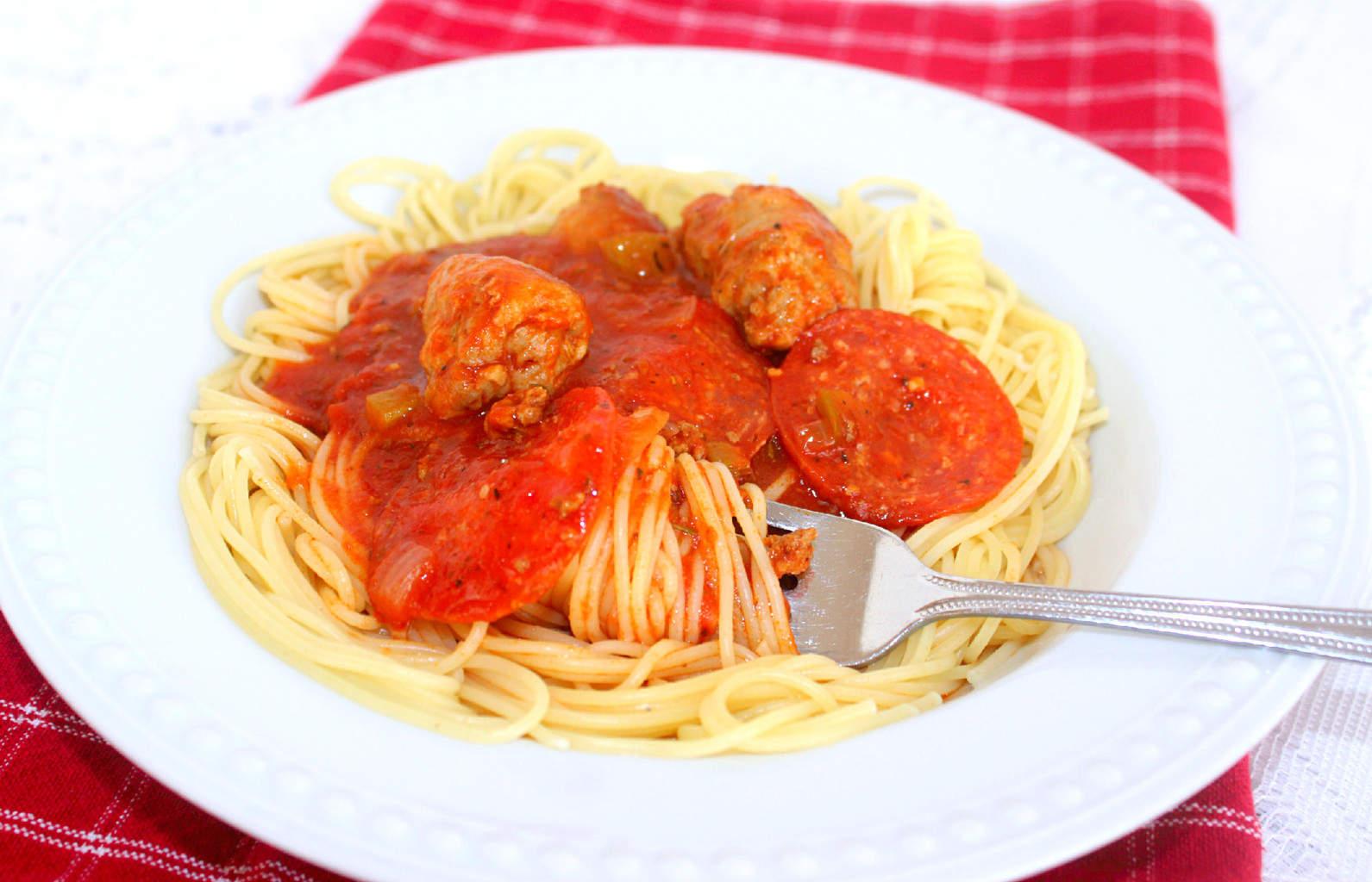 Extraordinary and Extra Meaty (Recipe: Extra Meaty Spaghetti Sauce)