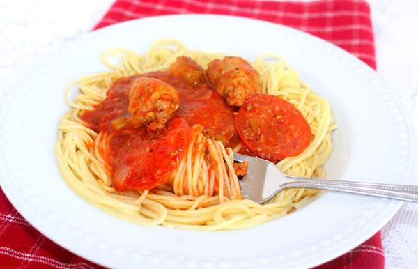 Extraordinary and Extra Meaty (Recipe: Extra Meaty Spaghetti Sauce)