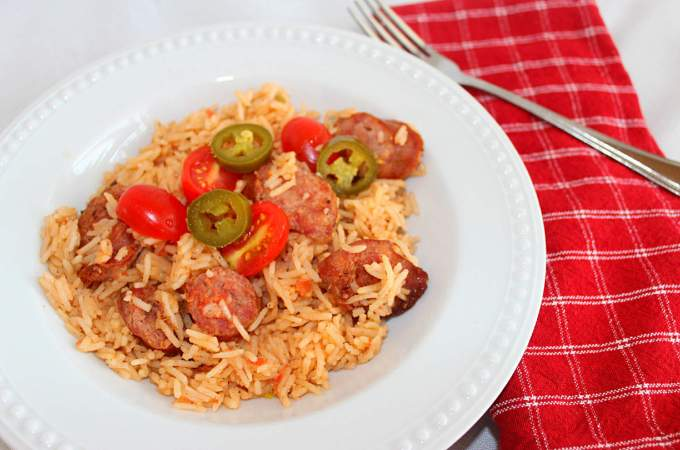 Spicy Sausage and Rice ~ Syrup and Biscuits