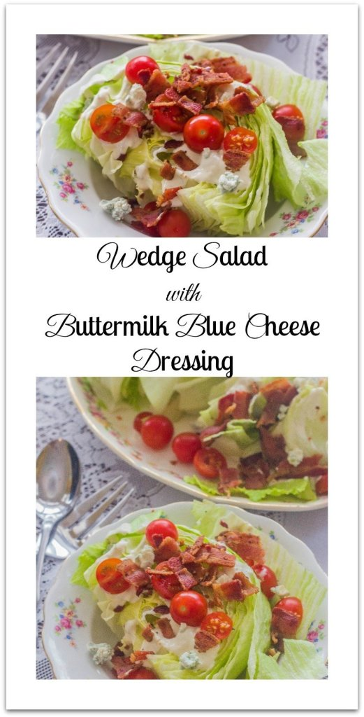 Wedge Salad with Buttermilk Blue Cheese Dressing. Iceberg lettuce ...