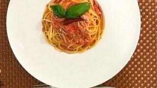 【キスマイBUSAIKU】10分パスタレシピ!ロバート馬場『包丁を使わないトマトパスタ』の作り方!