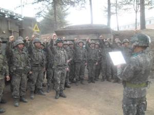 ユンホが所属する第26師団の兵士たち(韓国陸軍公式サイトより)