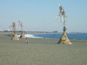 若光が上陸した神奈川県・大磯の海岸