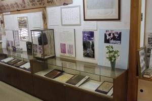 雨森芳洲の業績を伝える展示物
