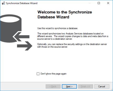Synchronization Wizard Welcome