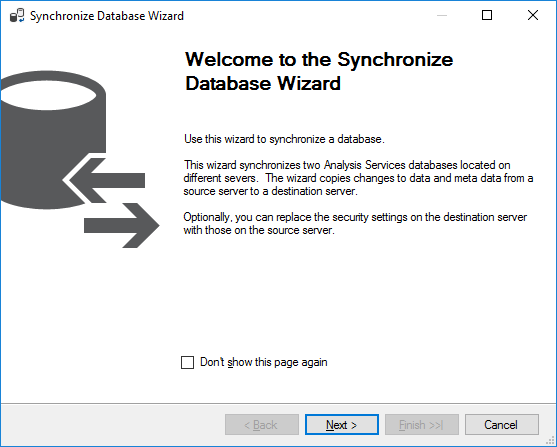Synchronization Wizard Welcome