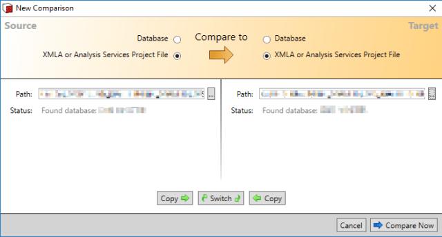 SSAS Compare File to File