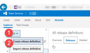VSO Create Release Definition