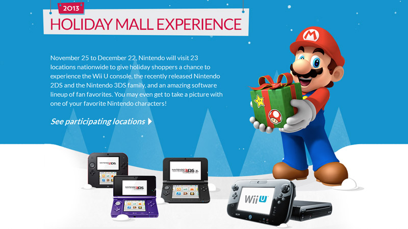 Nintendo Holiday Mall Experience