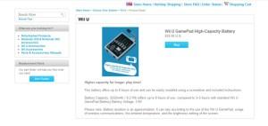 Wii U GamePad High-Capacity Battery