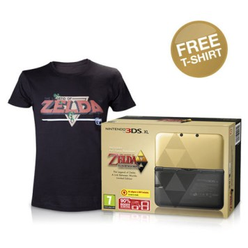 Nintendo 3DS XL The Legend of Zelda: A Link Between Worlds Limited Edition + FREE T-Shirt