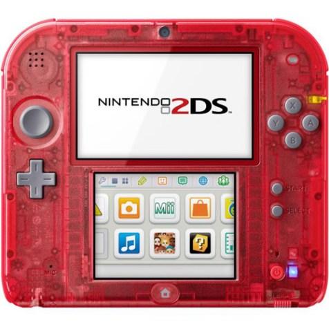 Nintendo2DS_Transparent_Red_front