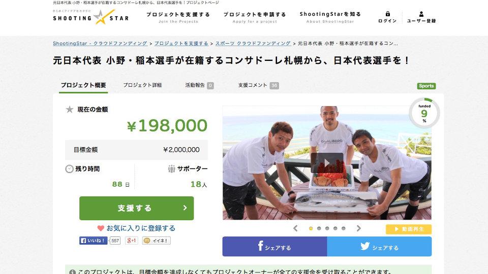 コンサドーレ札幌 - クラウドファンディング