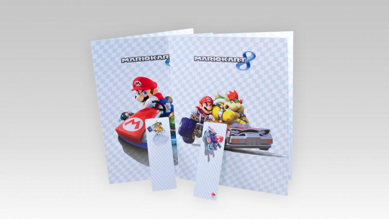 Mario Kart 8 Folder & Bookmark Set