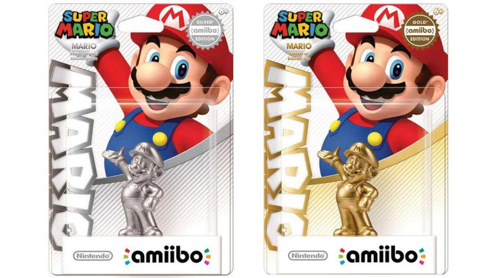 amiibo mario - silver / gold edition
