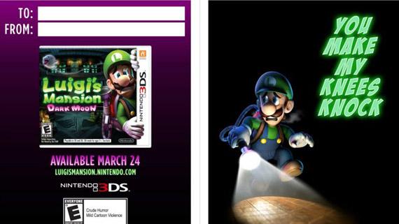 Luigi's Mansion: Dark Moon - Valentine's Day Card