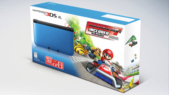 Nintendo 3DS XL Blue Black: Mariokart 7