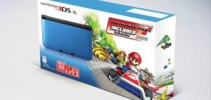 Nintendo 3DS XL Blue Black: Mariokart 7