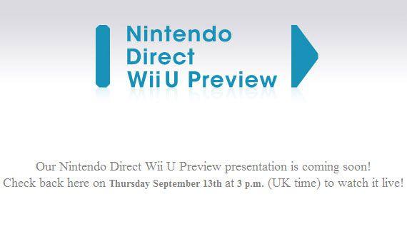 Nintendo Direct Wii U Preview