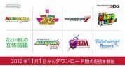 任天堂、11月から3DS『マリオカート7』や『ゼルダの伝説』等発売済み8タイトルを新たにダウンロード版ラインナップへ追加