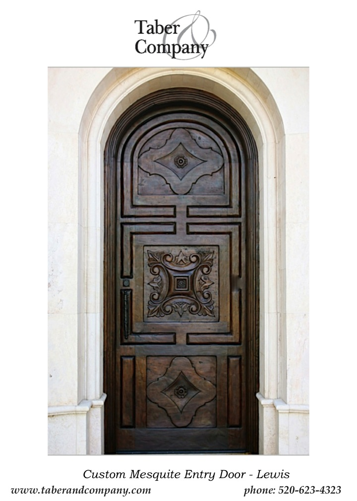 Custom wood doors taber companytaber company for Mediterranean style entry doors