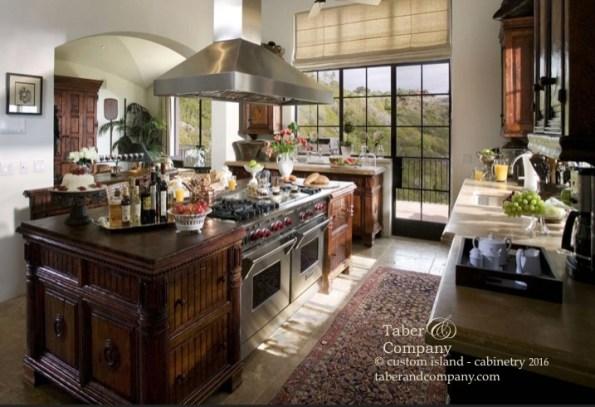 Custom kitchen cabinetry islands mediterranean italian Spainish