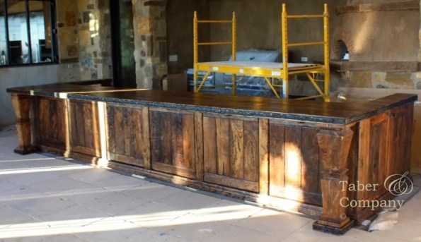 Solid Wood Kitchen Isand. 14 ft long made from Arizona Ash