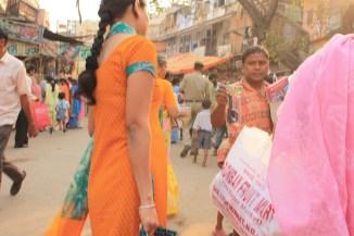 Dans le Main bazaar de Delhi