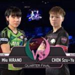 MIU Hirano ひらの みう vs CHEN Szu-Yu Highlights 1 4 2017 Women's World Cup