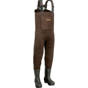Cabela's Men's 5mm Neostretch Neoprene Chest Waders Stout - Brown (9)