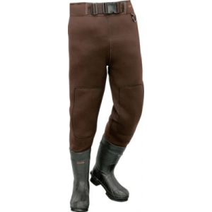 Cabela's Men's 3mm Neostretch Waist-High Felt-Sole Waders - Brown (15)