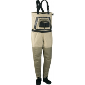 Cabela's Guide Tech Stockingfoot Waders with 4MOST DRY-Plus Regular - Tan/Green (2XL)