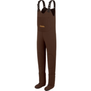 Cabela's Men's 3mm Lightweight Stockingfoot Waders Stout - Brown (LARGE)
