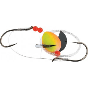 Beau Mac Flash Spin Cheater Special 6/0 Hook - Fluorescent Green (SIZE 2 30LB-SNGL 6)
