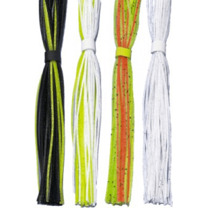 Cabela's Silicone Skirt Assortment - Black/Chartreuse