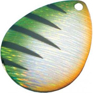 Cabela's Holographic Colorado Blades - Per 5 - Chartreuse