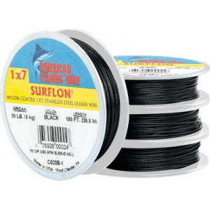 AFW Surflon Nylon-Coated Leader Wire - 45 Lb