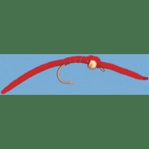 Cabela's Bead San Juan Worm - Per Dozen - Red
